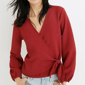 NEW Madewell Texture And Thread 3X Faux Wrap Top